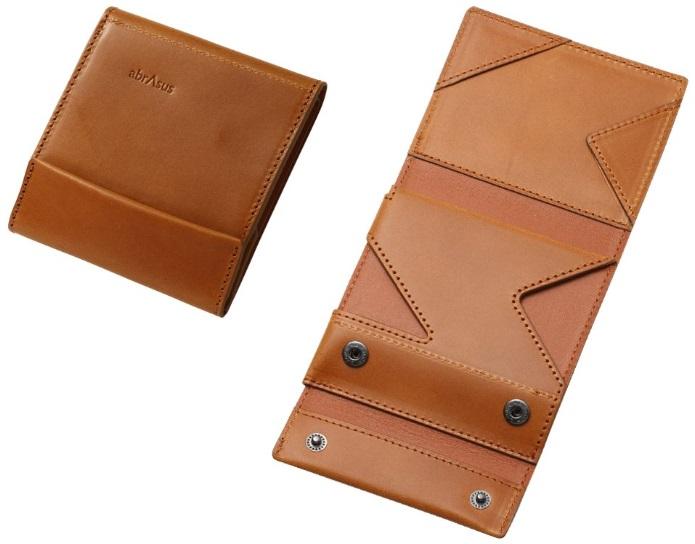 薄い財布ブッテーロレザーキャメル