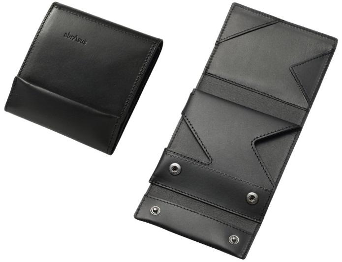 薄い財布ブッテーロレザー黒